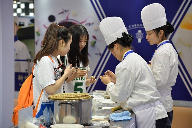 skills competition at kamaxi culinary school in india